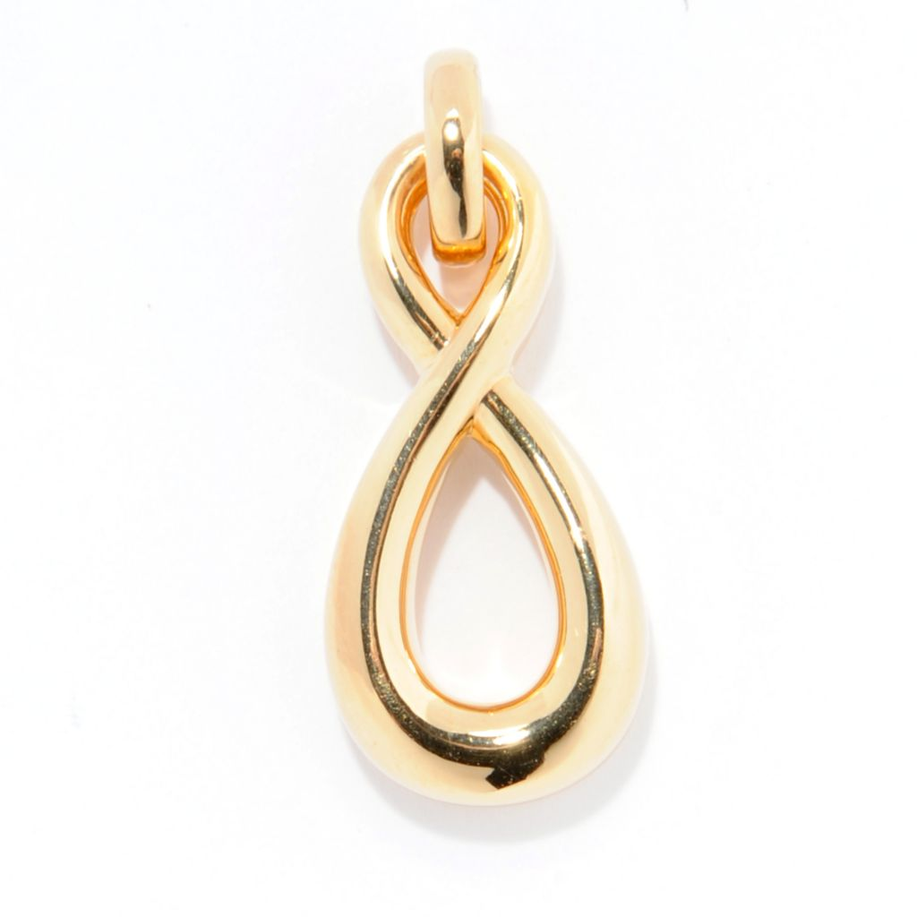 141-411 - Essanté Gold™  14K Gold Over Resin Polished Figure Eight Pendant