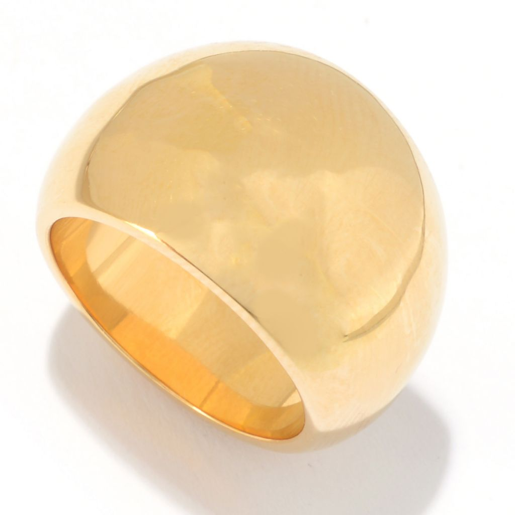141-425 - Essanté Gold™ 14K Gold Over Resin Polished Dome Ring