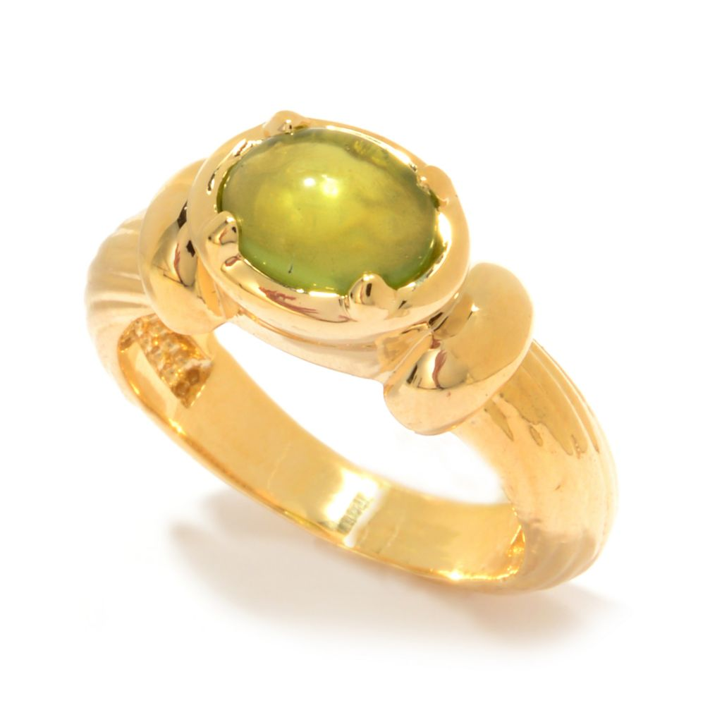 141-442 - Antalia™ Turkish Jewelry 18K Gold Embraced™ 1.25ctw Gemstone Textured Band Ring