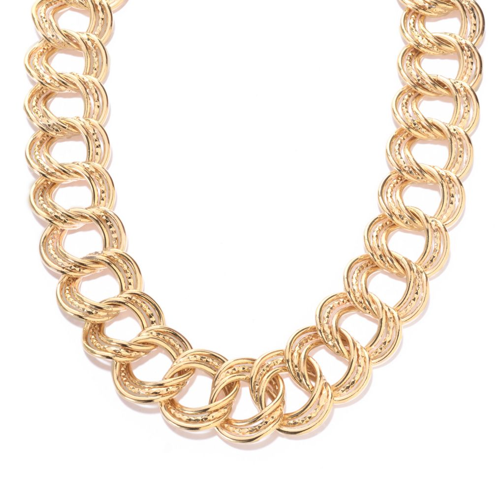 141-458 - Antalia™ Turkish Jewelry 18K Gold Embraced™ Diamond Cut & Polished Necklace