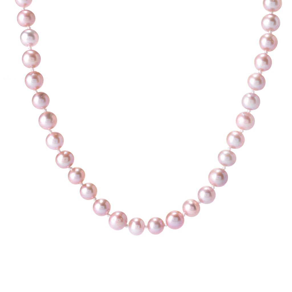 141-647 - Gems en Vogue 8mm Lavender Freshwater Cultured Pearl Toggle Necklace