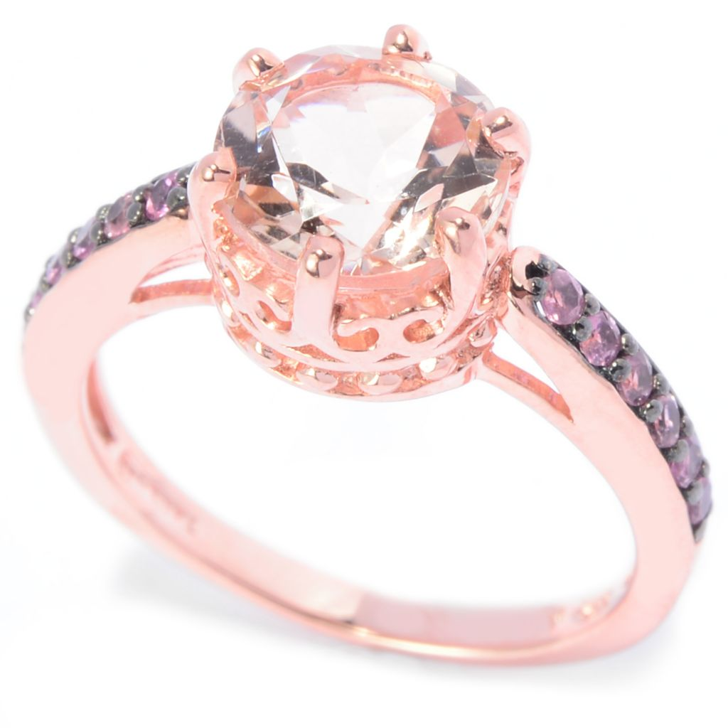 141-708 - NYC II 1.95ctw Round Morganite & Pink Tourmaline Band Ring