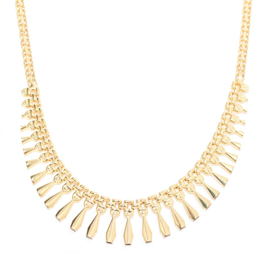 "141-716 - 14K Gold 17"" Graduated Cleopatra Necklace, 11.2 grams"