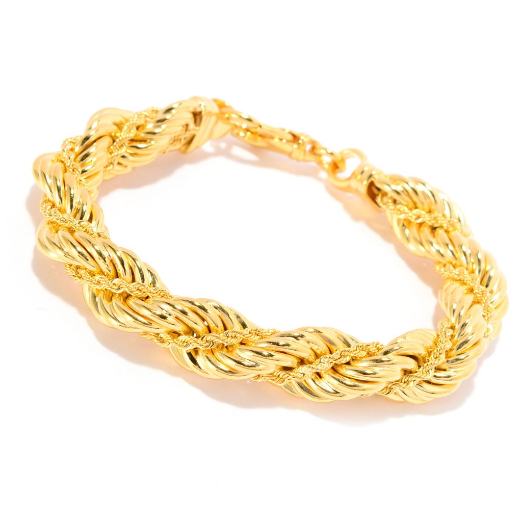141-726 - Toscana Italiana 18K Gold Embraced™ Twisted Rope Bracelet