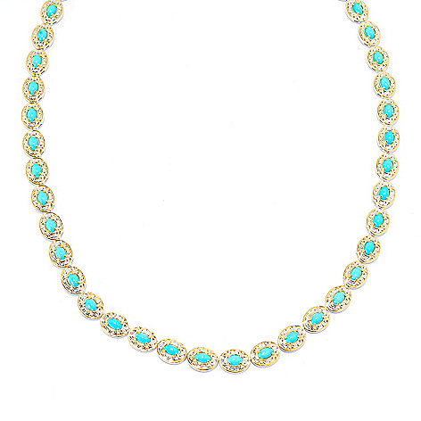 141-731 - Gems en Vogue Oval Sleeping Beauty Turquoise Tennis Necklace