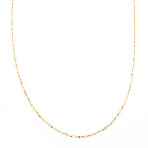 141-747 - 14K Gold 24'' Diamond Cut Perfectina Chain Necklace, 1.37 grams