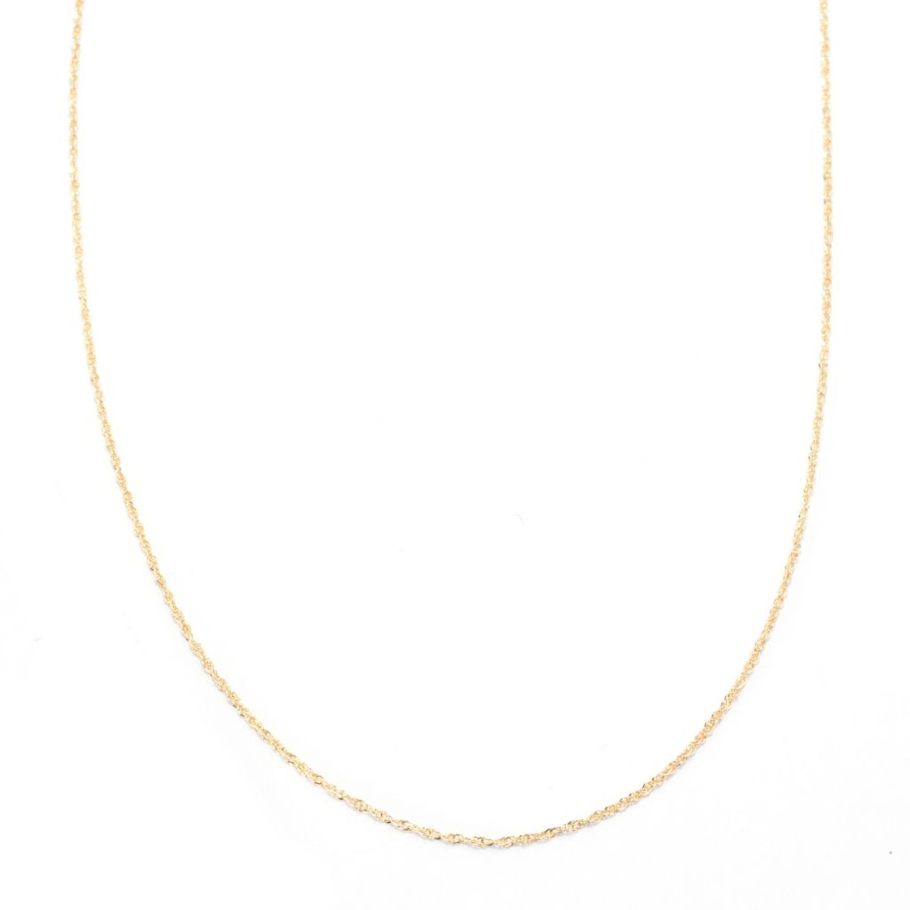 "141-747 - 14K Gold 24"" Diamond Cut Perfectina Chain Necklace, 1.37 grams"