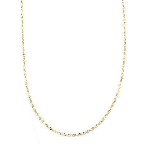 141-748 - 14K Gold 20'' Diamond Cut Rope Chain Necklace, 4.69 grams
