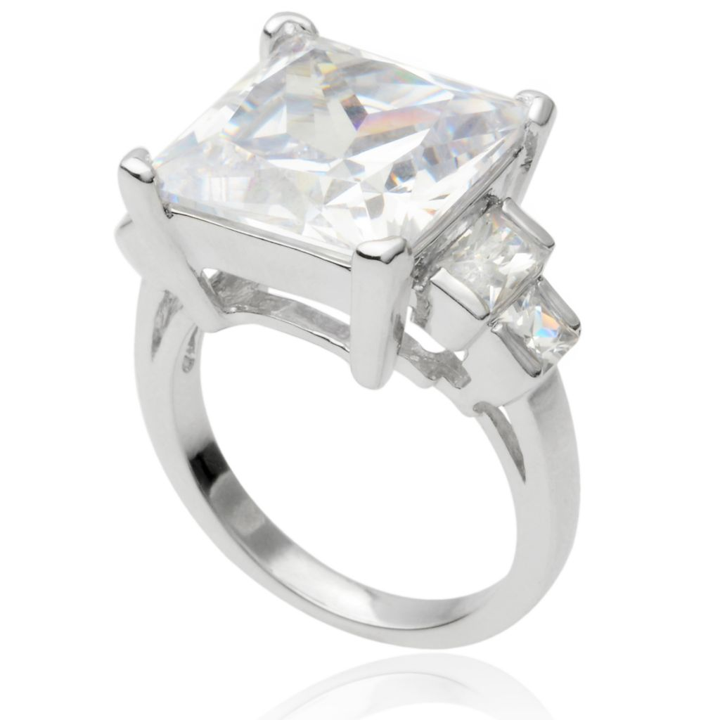 141-766 - Tressa Collection Sterling Silver Simulated Diamond Five-Stone Ring