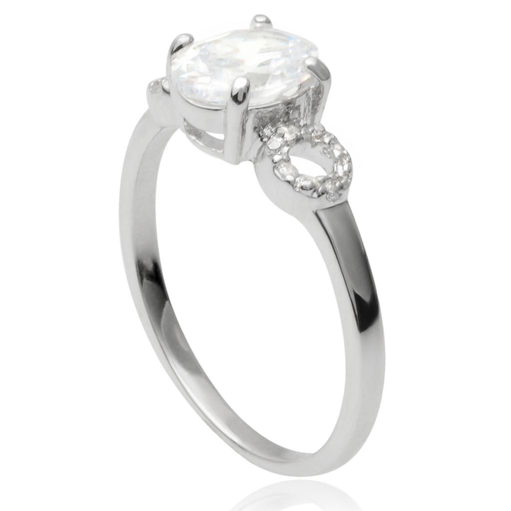 141-771 - Tressa Collection Sterling Silver Simulated Diamond Ring