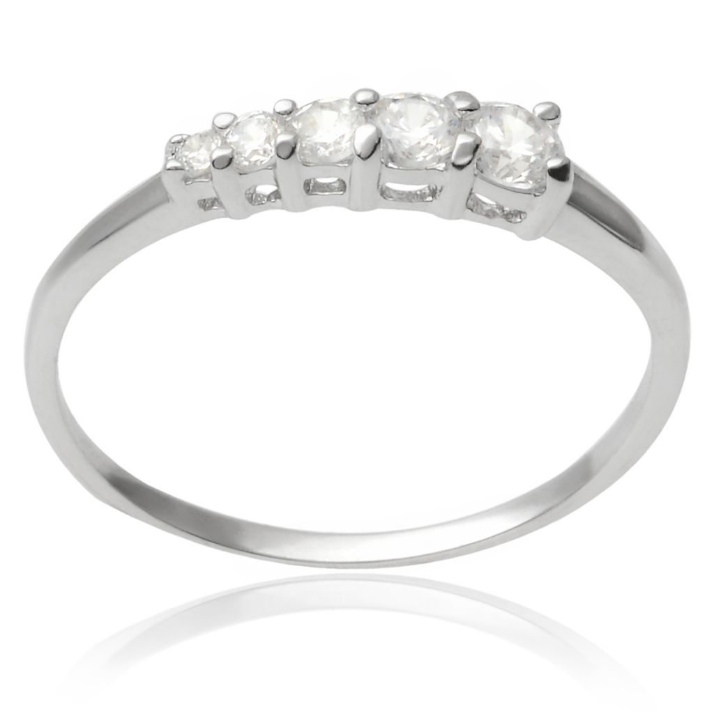 141-777 - Tressa Collection Sterling Silver Simulated Diamond Five-Stone Ring