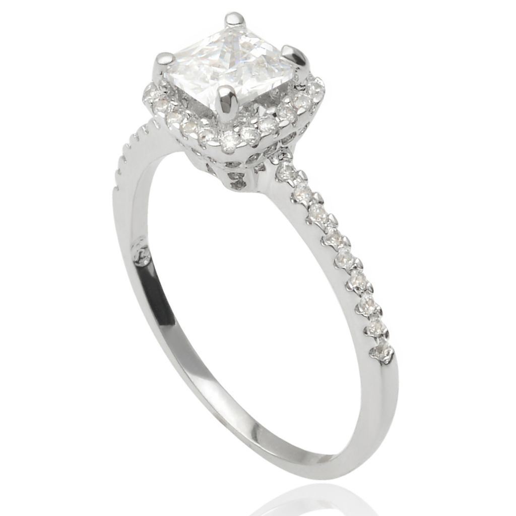 141-778 - Tressa Collection Sterling Silver Simulated Diamond Halo Ring