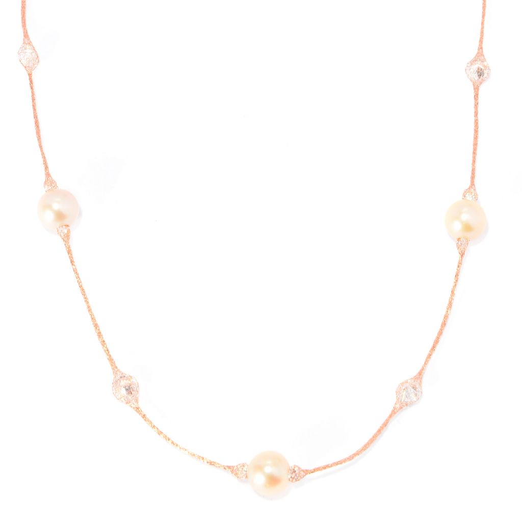 "141-847 - Italian Designs with Stefano 14K Gold 18"" 6mm Freshwater Cultured Pearl Necklace"