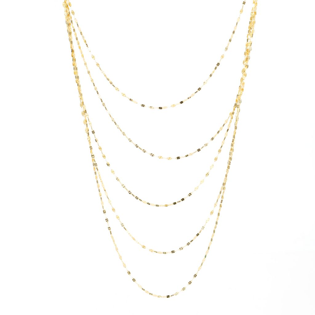 "141-851 - Italian Designs with Stefano 14K Gold 18"" Five-Strand Necklace, 4.08 grams"