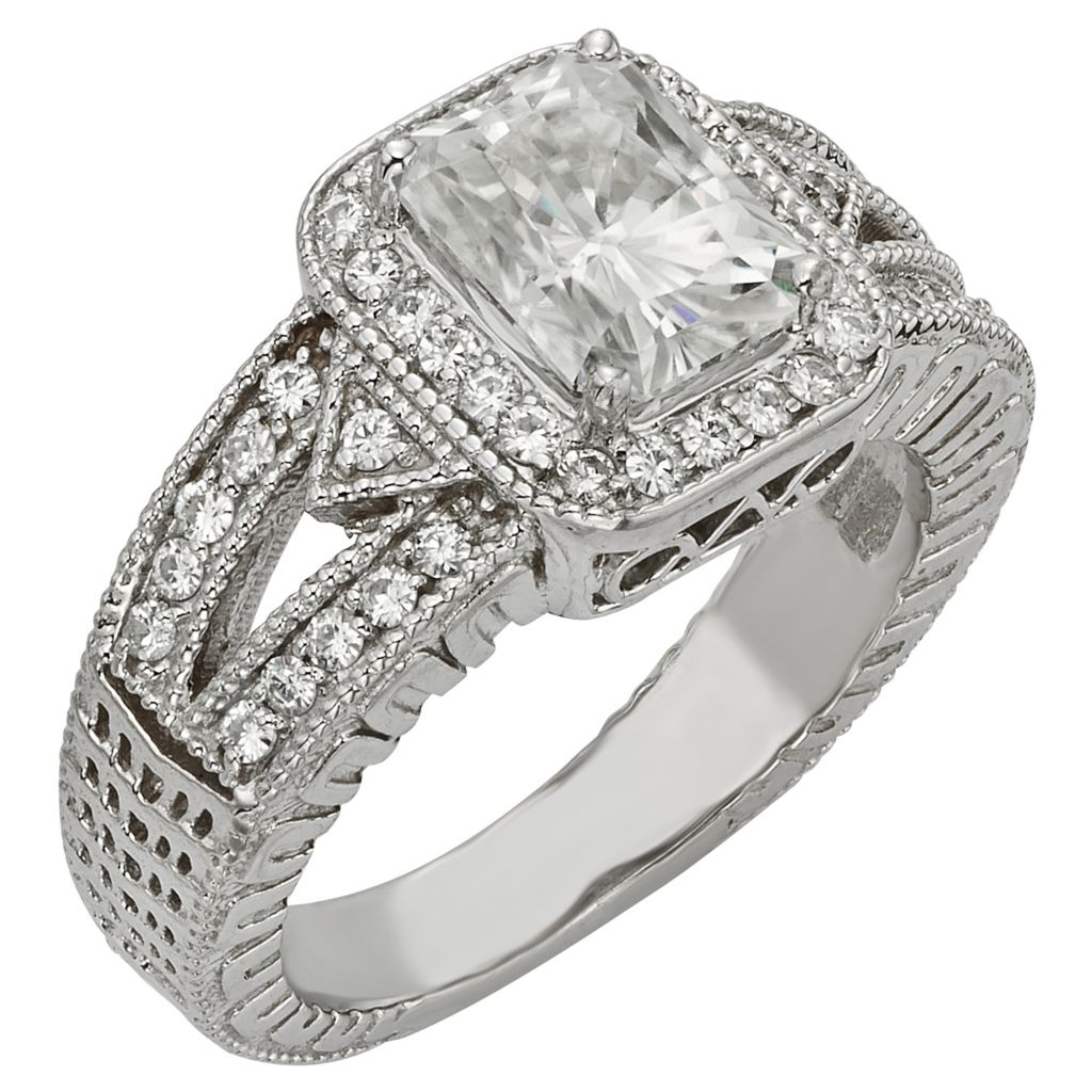 141-859 - Venazia™ Forever Brilliant® Moissanite 14K White Gold 3.14 DEW Halo Ring