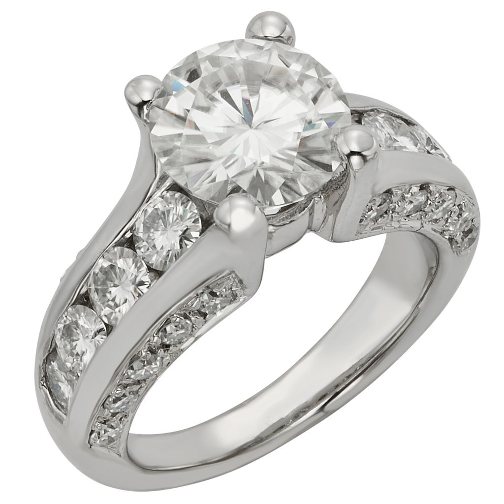 141-860 - Venazia™ Forever Brilliant® Moissanite 14K White Gold 4.24 DEW Ring