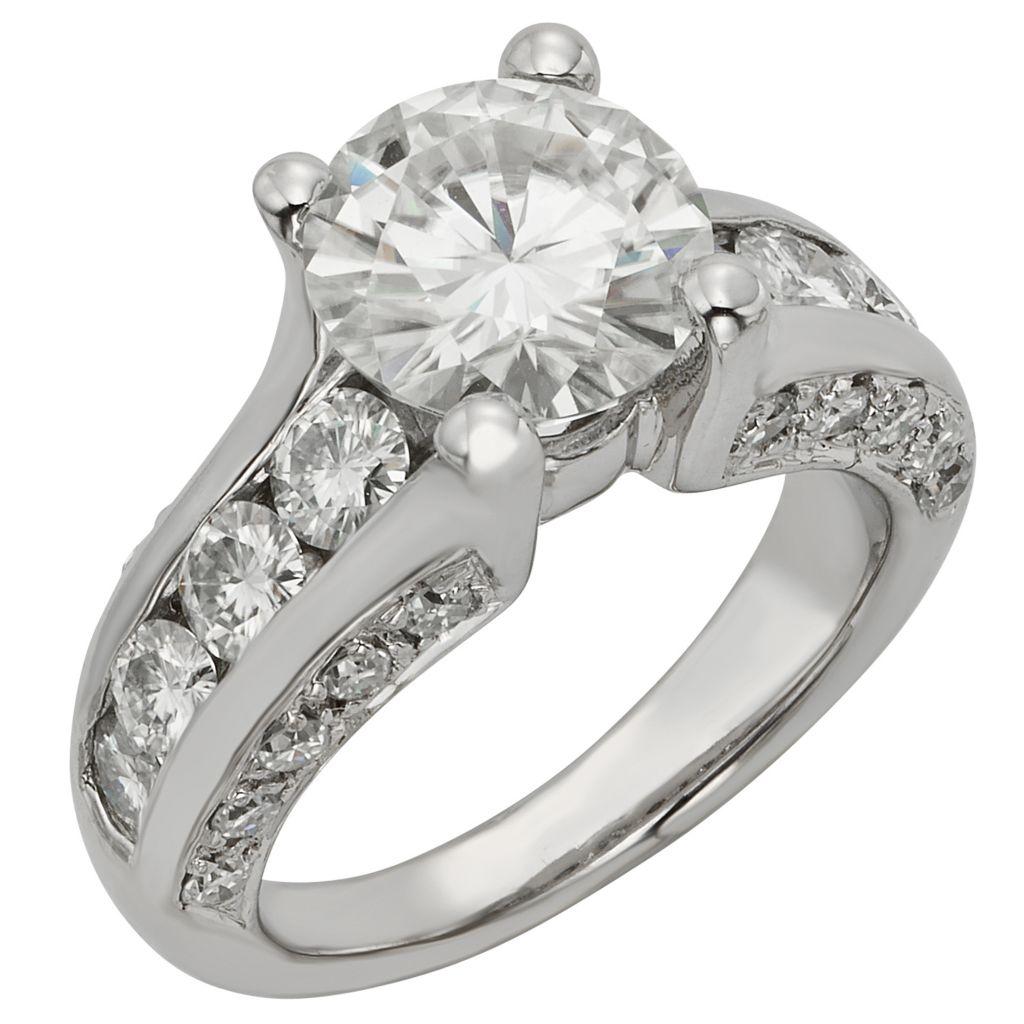 141-860 - Venazia™ Forever Brilliant® Moissanite 14K White Gold 4.24 DEW Ring