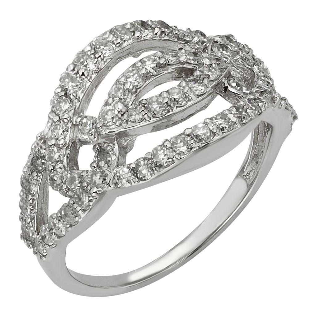 141-861 - Venazia™ Forever Brilliant® Moissanite 14K White Gold 0.93 DEW Fashion Ring