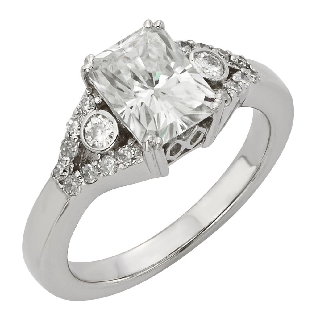 141-863 - Venazia™ Forever Brilliant® Moissanite 14K White Gold 2.10 DEW Ring