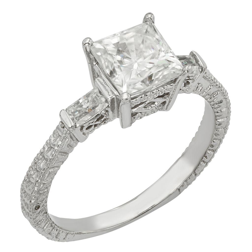 141-866 - Venazia™ Forever Brilliant® Moissanite 14K White Gold 1.92 DEW Square Ring