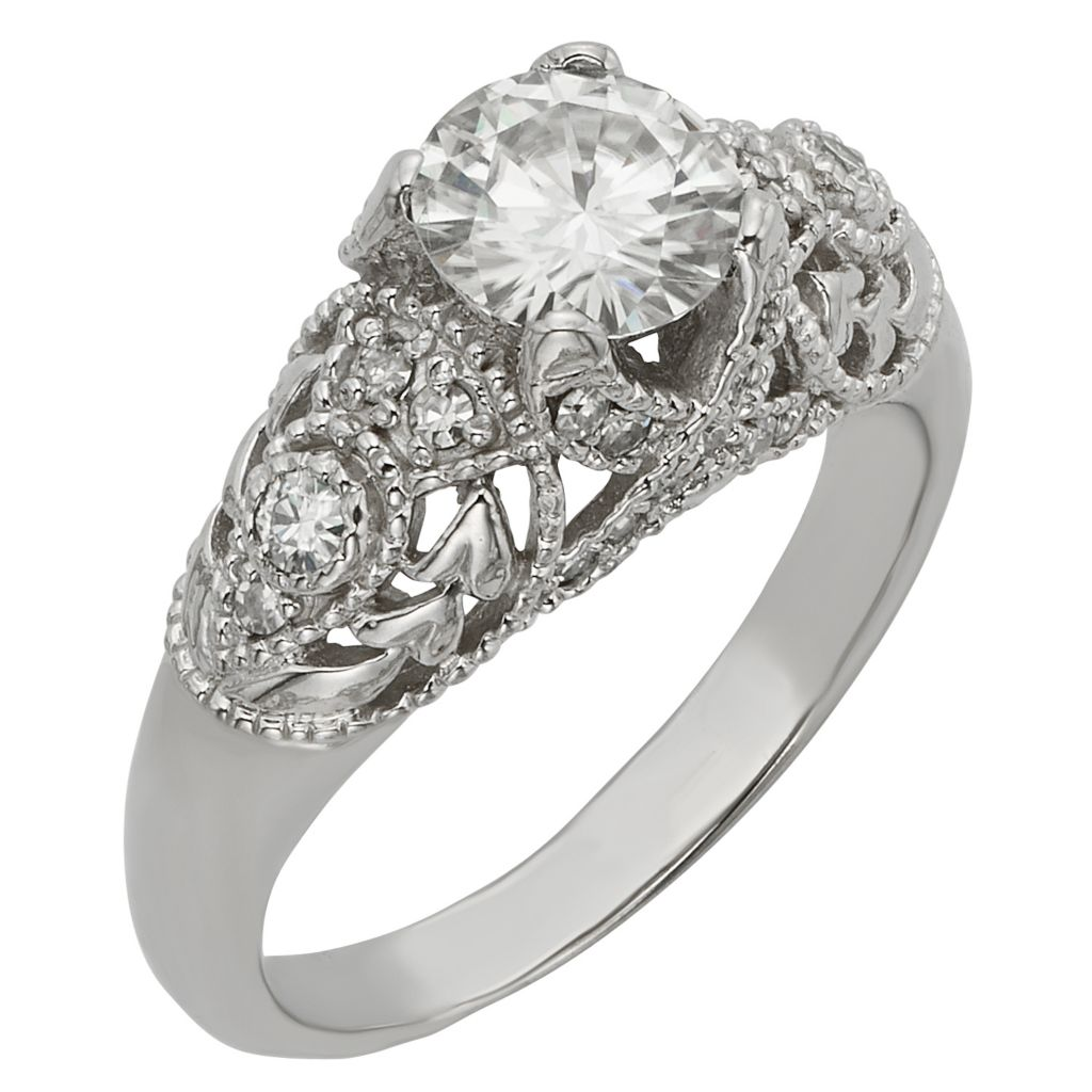 141-867 - Venazia™ Forever Brilliant® Moissanite 14K White Gold 1.40 DEW Fashion Ring