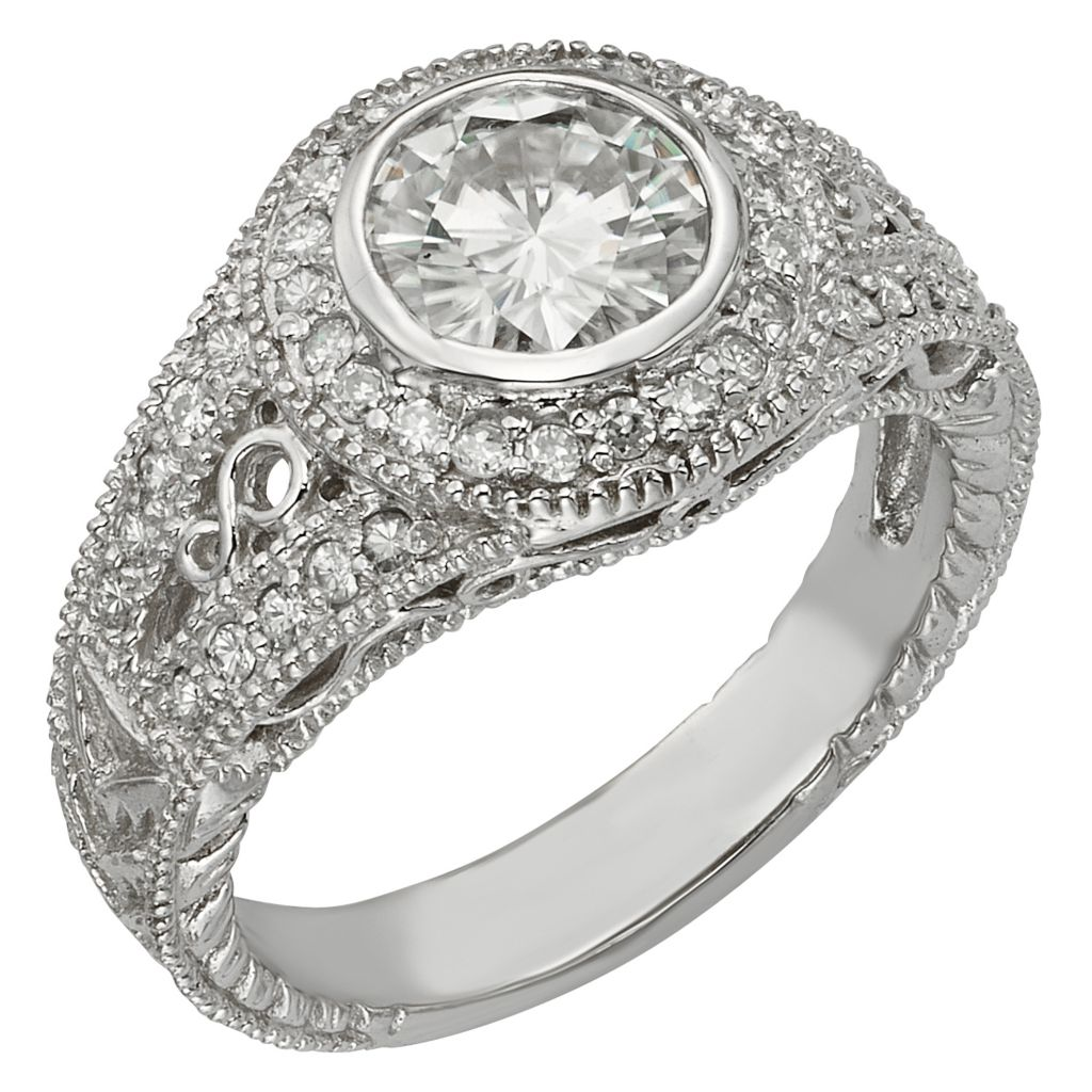 141-868 - Venazia™ Forever Brilliant® Moissanite 14K White Gold 1.68 DEW Round Halo Ring