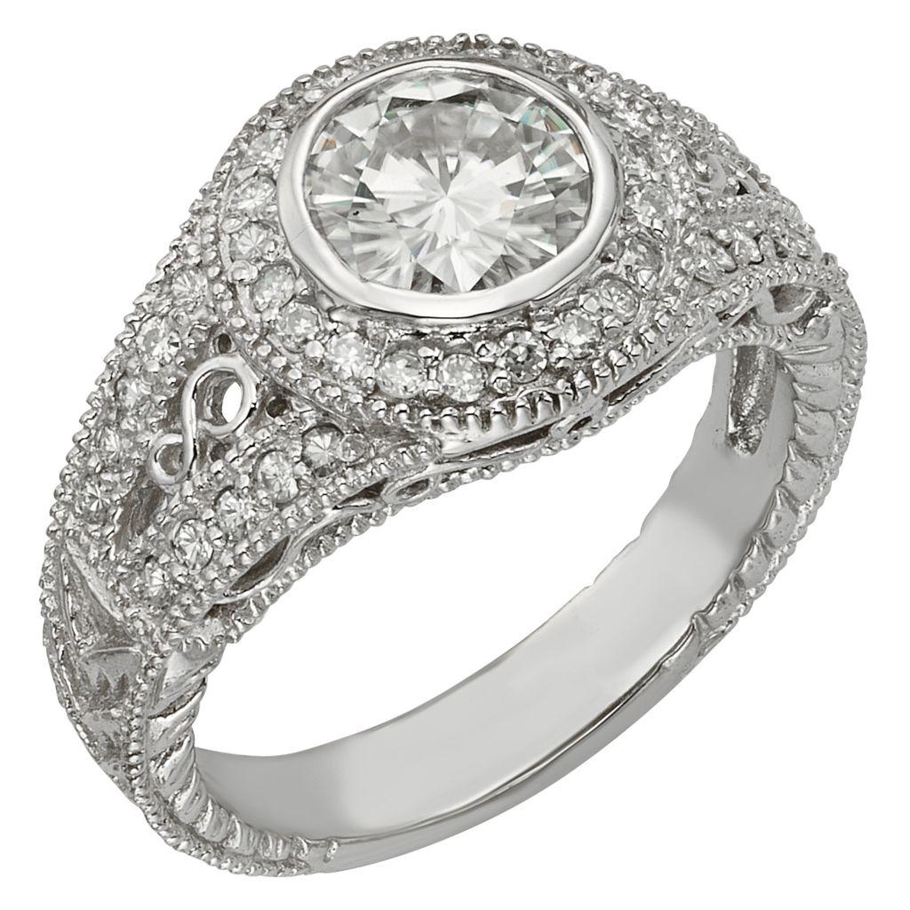 141-868 - Venazia™ Forever Brilliant® Moissanite 14K White Gold 1.68 DEW Round Halo Ring