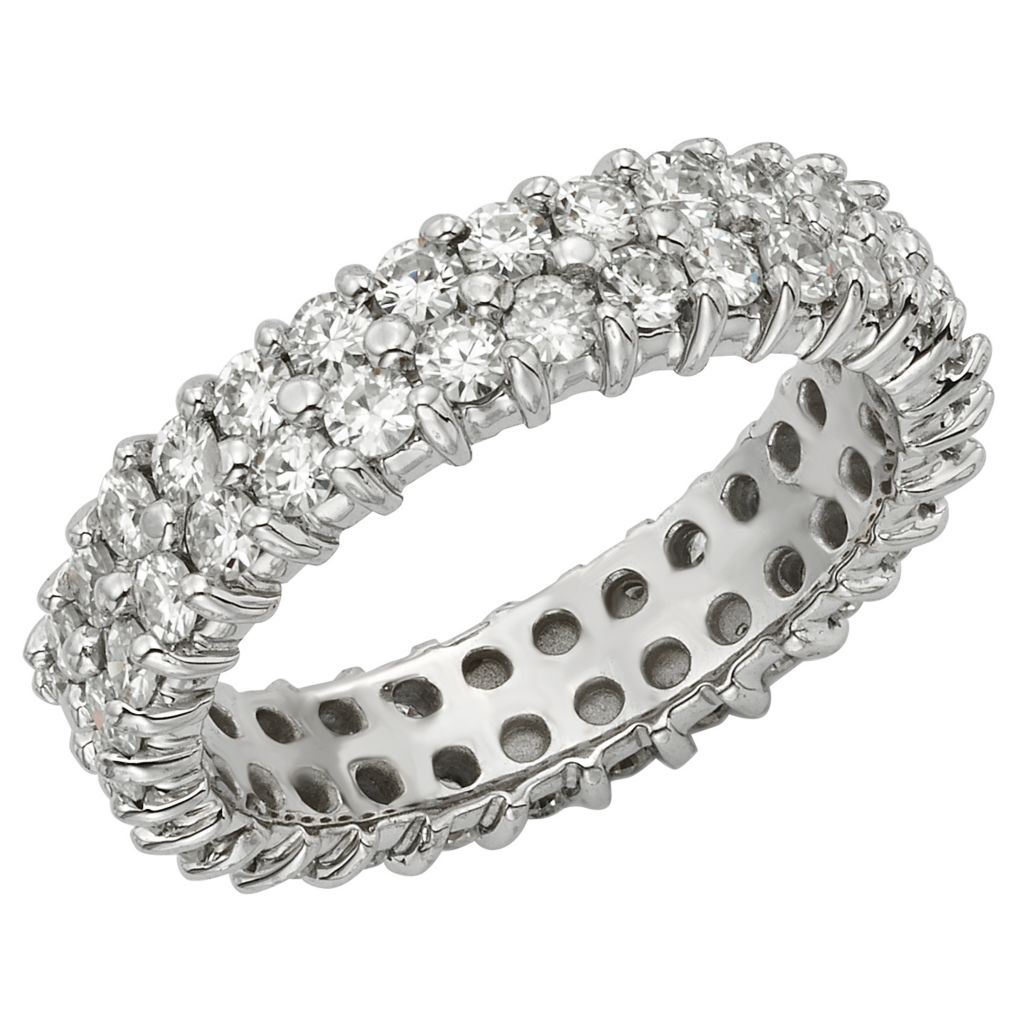 141-872 - Venazia™ Forever Brilliant® Moissanite 14K White Gold 4.00 DEW Eternity Band - Size 7