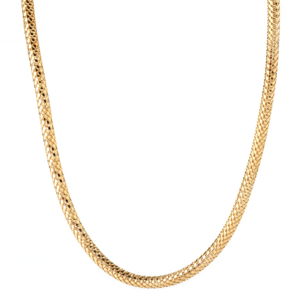 141-903 - Portofino Signature 18K Gold Embraced™ Polished Coreana Link Necklace