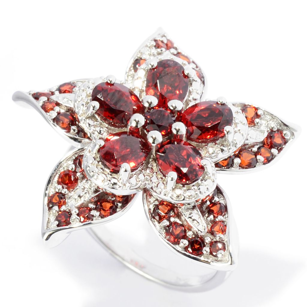 141-949 - NYC II Oval & Round Gemstone Flower Ring