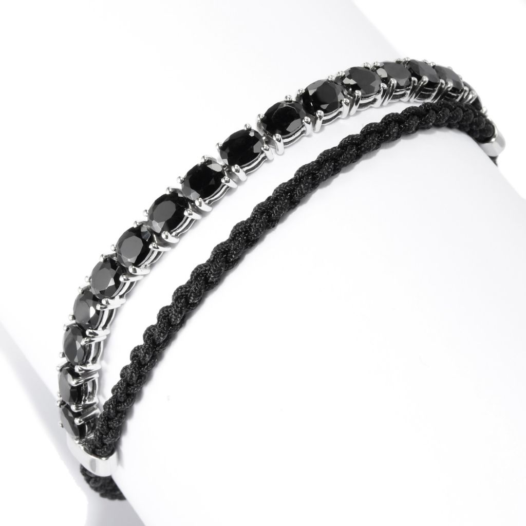 141-983 - NYC II 3.10ctw Oval Gemstone Adjustable Cord Tennis Bracelet