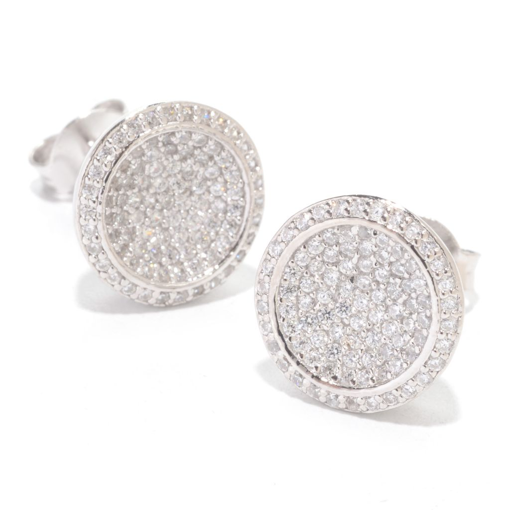 141-989 - Brilliante® Platinum Embraced™ 1.46 DEW Simulated Diamond Circle Stud Earrings