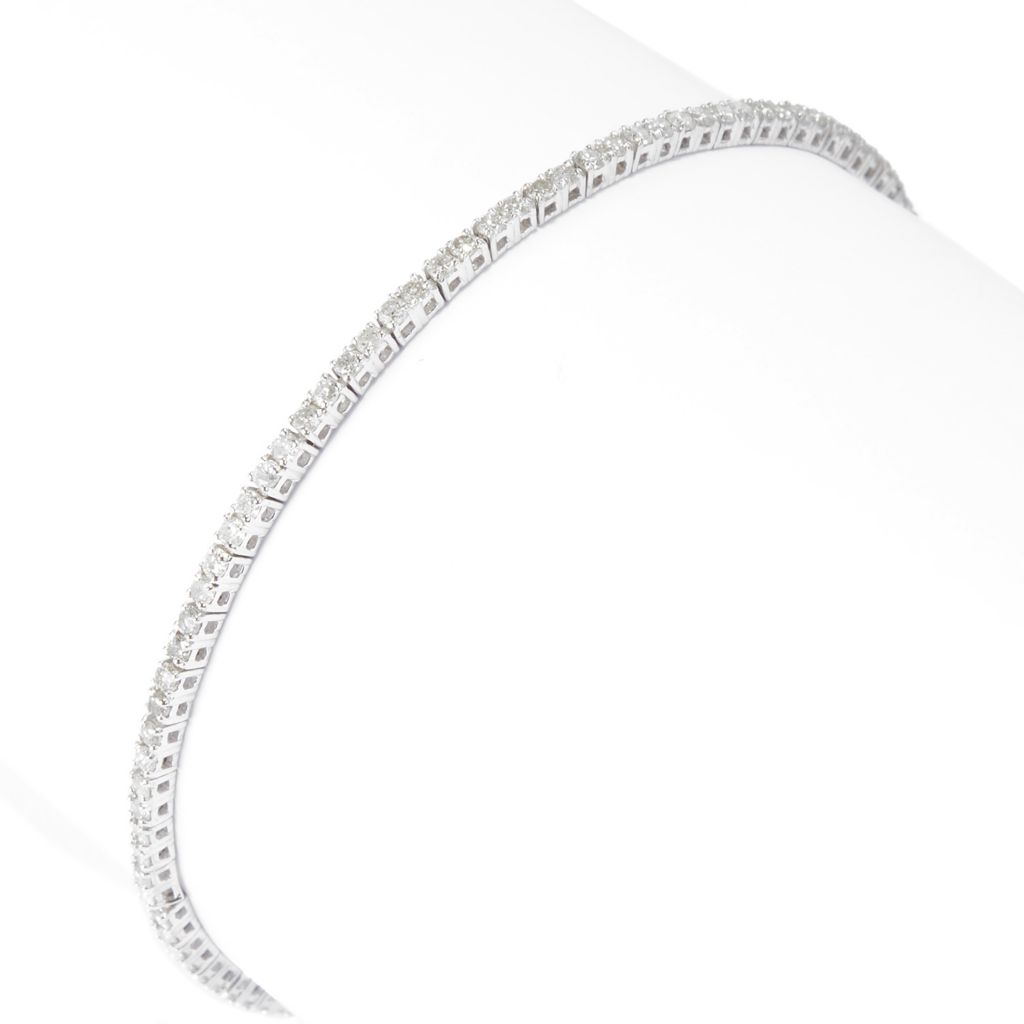 "142-060 - Diamond Treasures 14K White Gold 7"" 1.48ctw Round Diamond Line Bracelet"