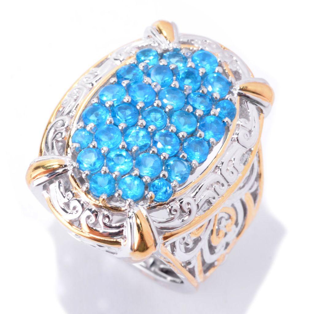 142-106 - Gems en Vogue 1.66ctw Brazilian Neon Apatite Oval Ring