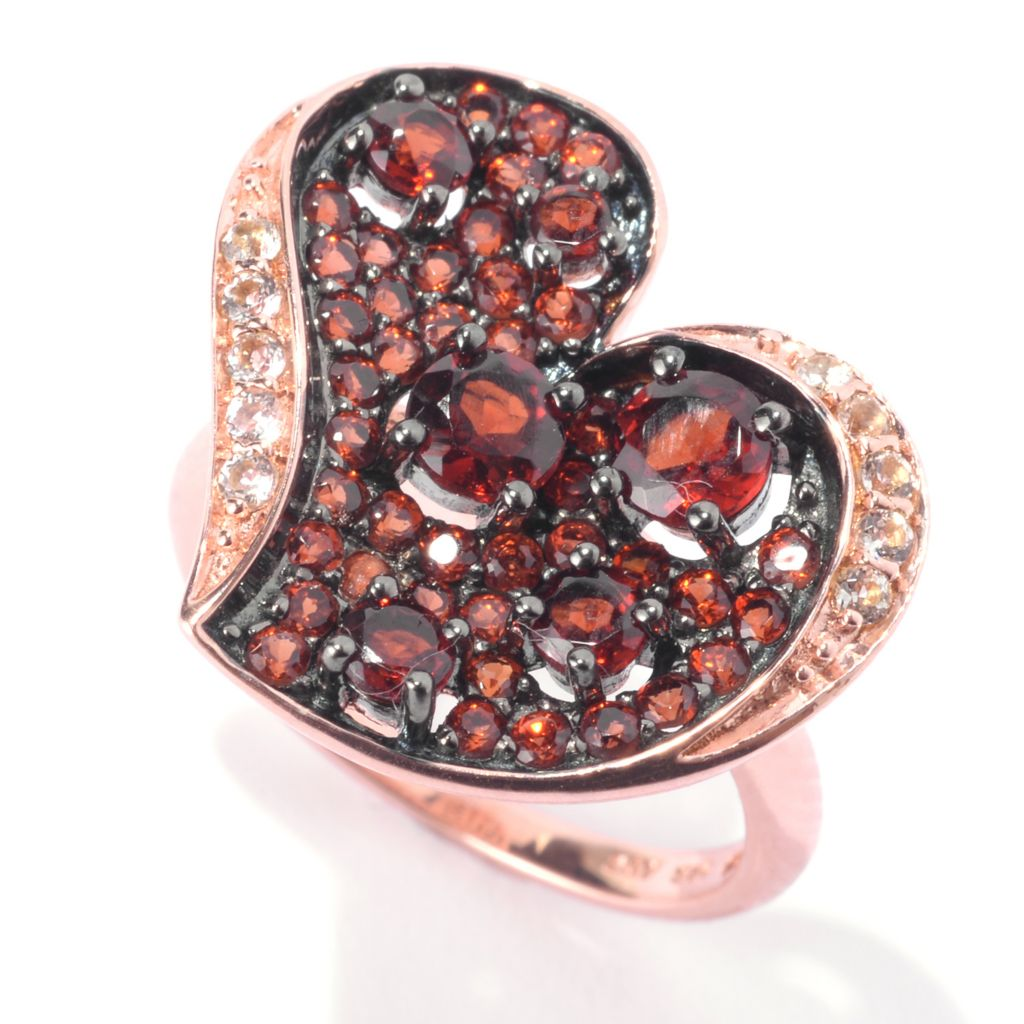 142-152 - NYC II Brilliant Cut Gemstone & White Topaz Heart Cluster Ring