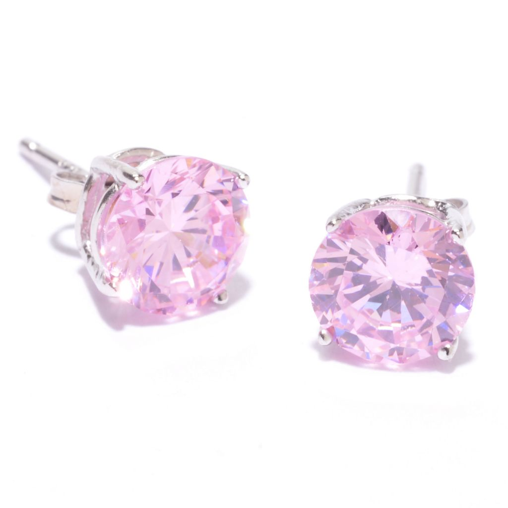 142-180 - Brilliante® Platinum Embraced™ 2.00 DEW Round Simulated Gemstone Stud Earrings