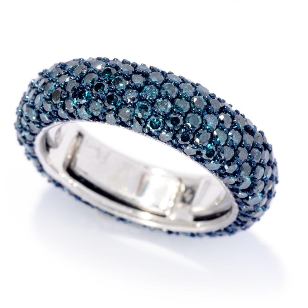 142-208 - Diamond Treasures 14K White Gold 2.93ctw Diamond Satin Fit Eternity Band Ring