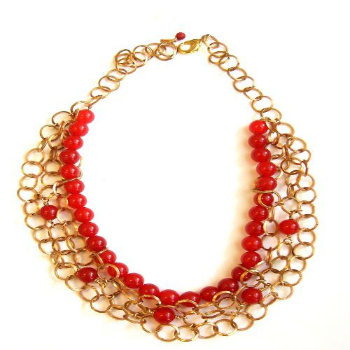 "142-219 - MINU Jewels 22"" Gemstone Bib Necklace"