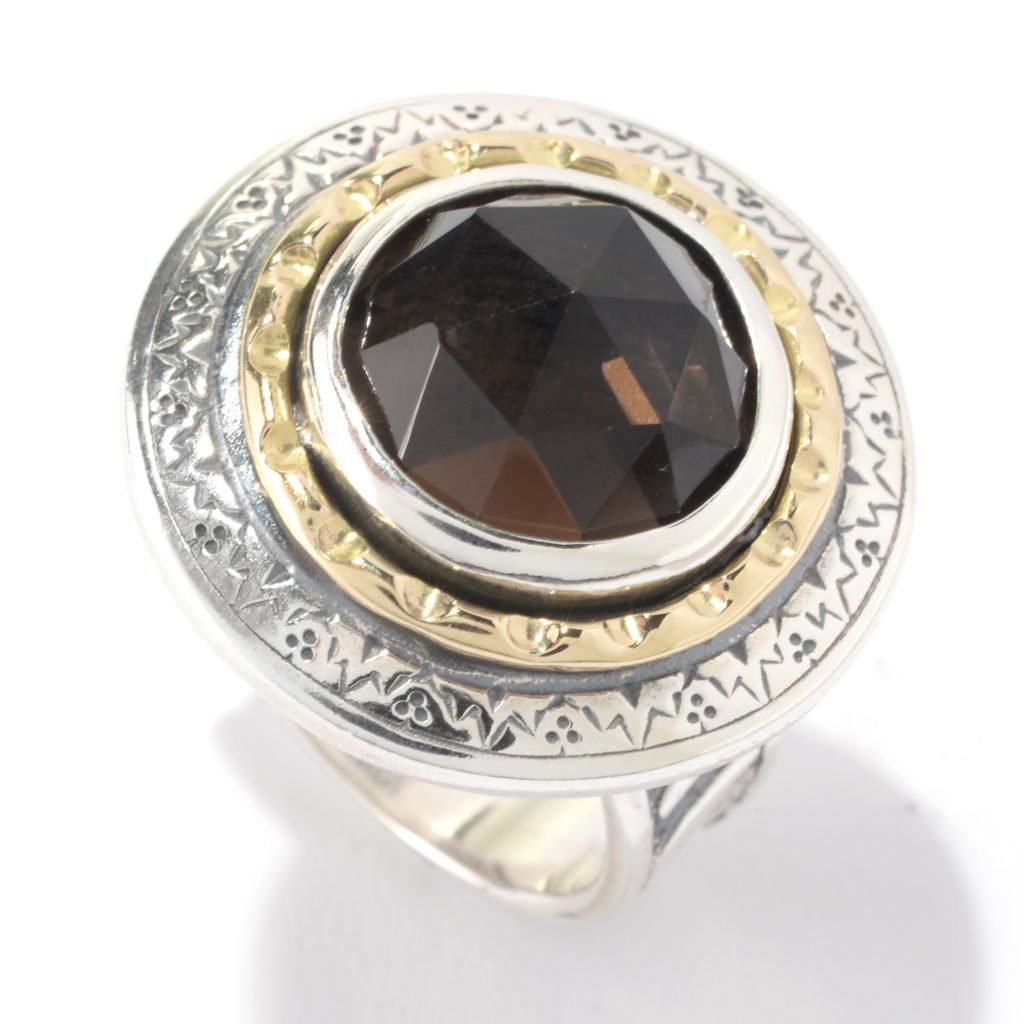 142-238 - Passage to Israel Two-tone 12mm Round Quartz Pattern Ring