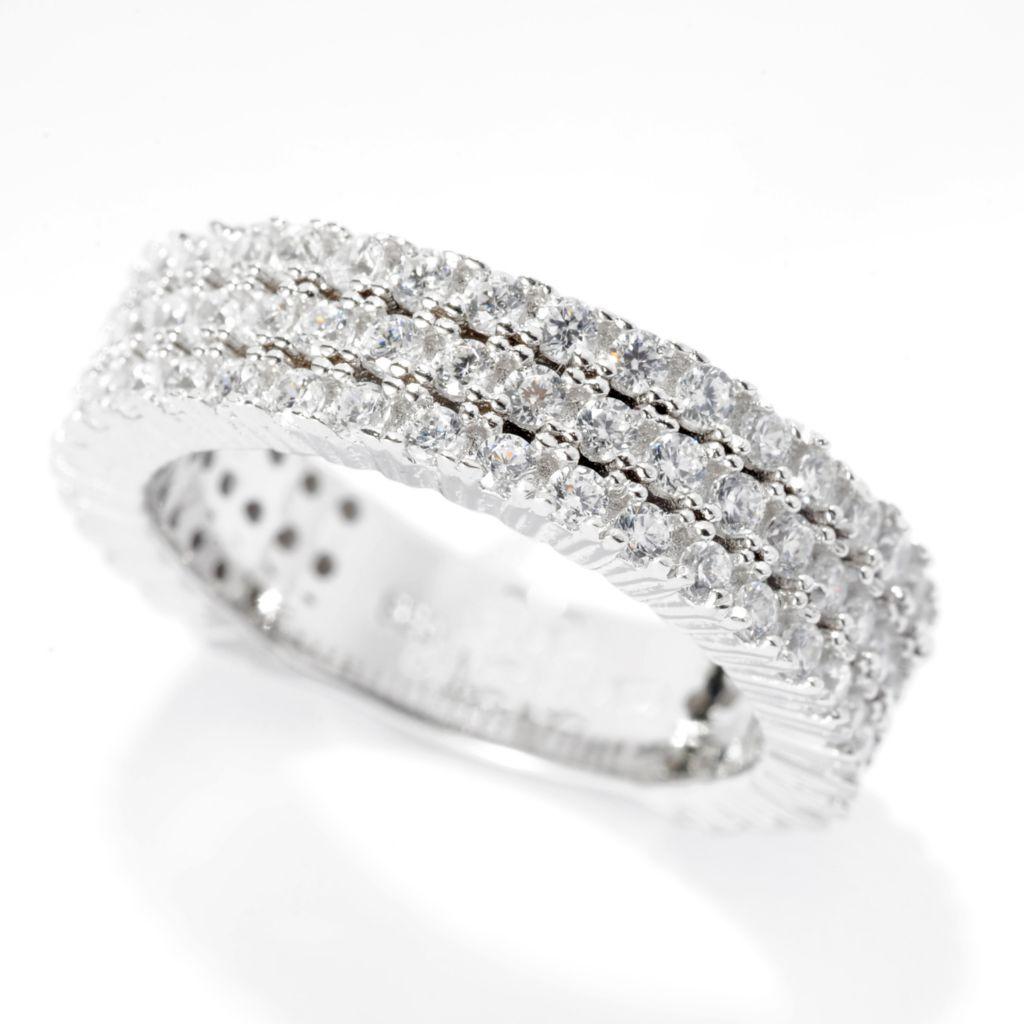 142-275 - Brilliante® 1.31 DEW Round Simulated Diamond Three-Row Stack Ring