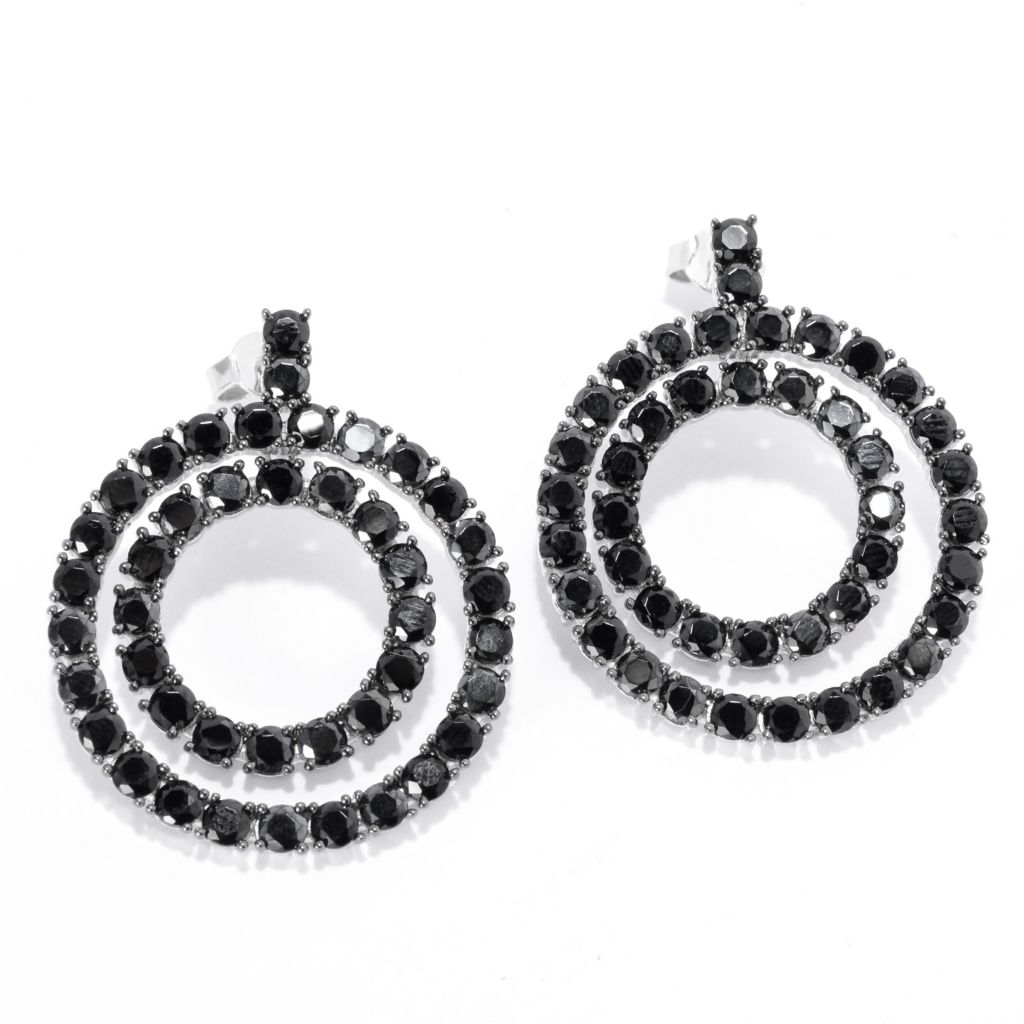 "142-310 - NYC II 1.75"" Gemstone Double-Row Front-Facing Hoop Earrings"