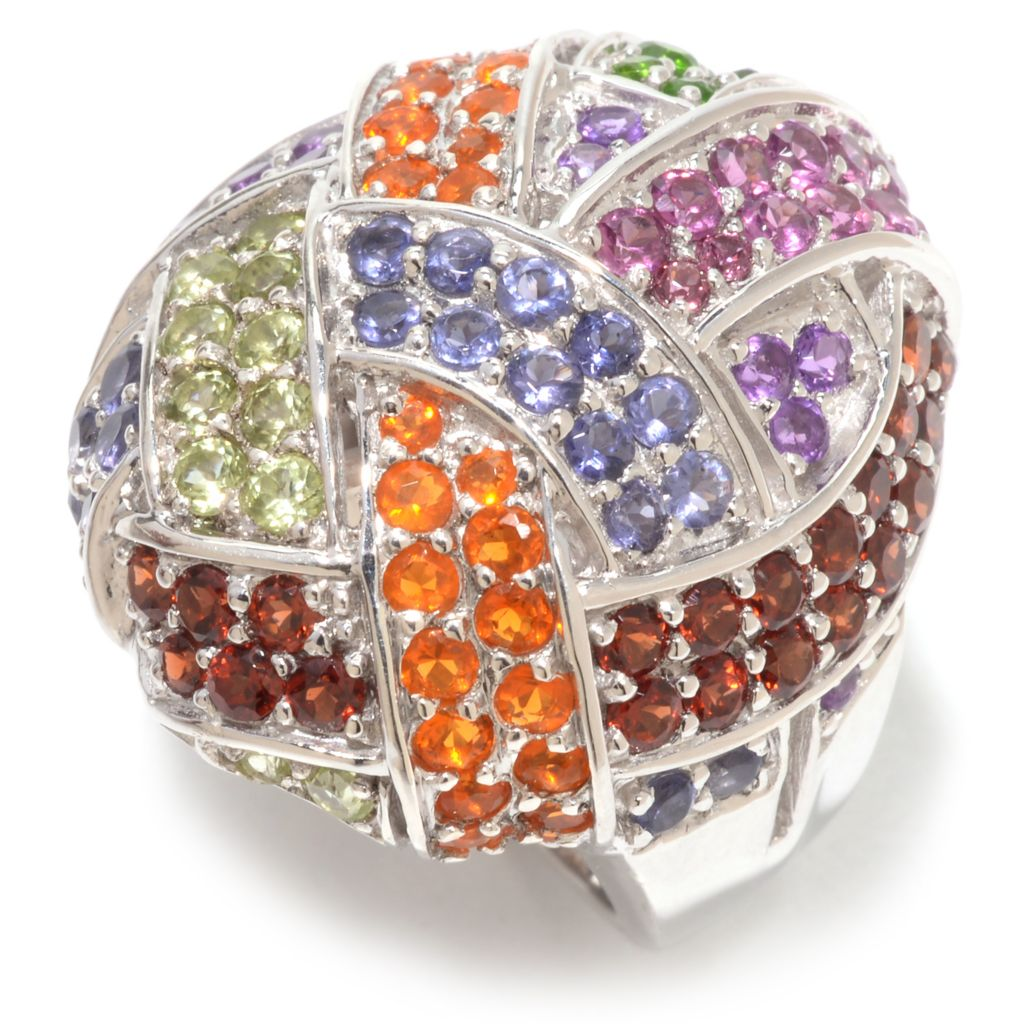 142-386 - NYC II 3.16ctw Round Multi Gemstone Dome Ring