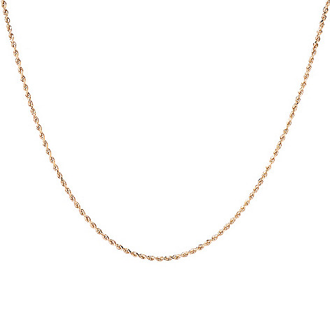 142-534 - 14K Gold 18'' Polished Rope Chain Necklace, 2.3 grams