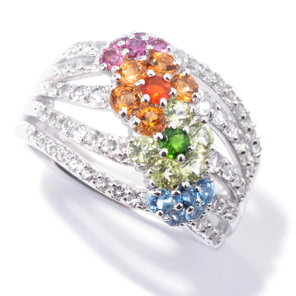 142-601 - NYC II 1.50ctw Multi Exotic Gemstone Flower Ring