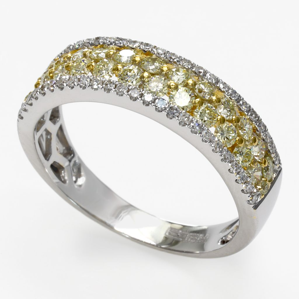 142-616 - Effy 14K Gold 1.03ctw Yellow & White Diamond Ring - Size 7