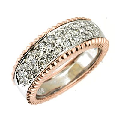 142-658 - Sonia Bitton Galerie de Bijoux 14K Two-tone Gold 0.61ctw Diamond Band Ring