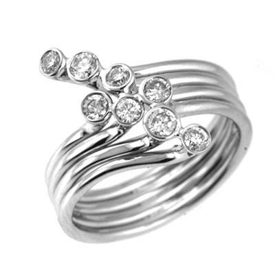 142-659 - Sonia Bitton Galerie de Bijoux 14K White Gold 0.47ctw Bezel Set Diamond Ring