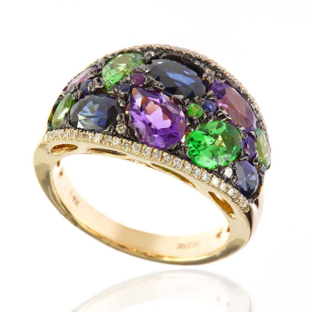 142-688 - Effy 14K Gold 5.10ctw Multi Gemstone Ring - Size 7