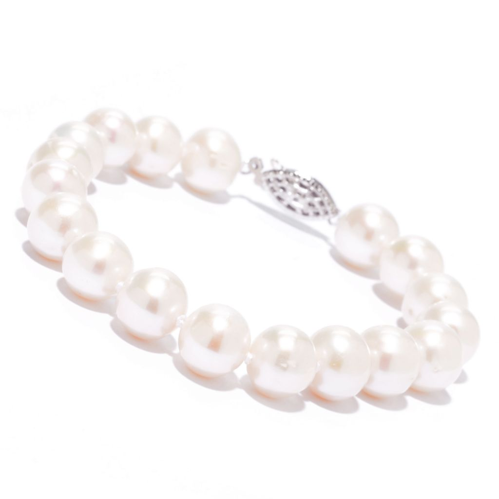 "142-724 - Sterling Silver 7.25"" 8.5-9.5mm Freshwater Cultured Pearl Bracelet"