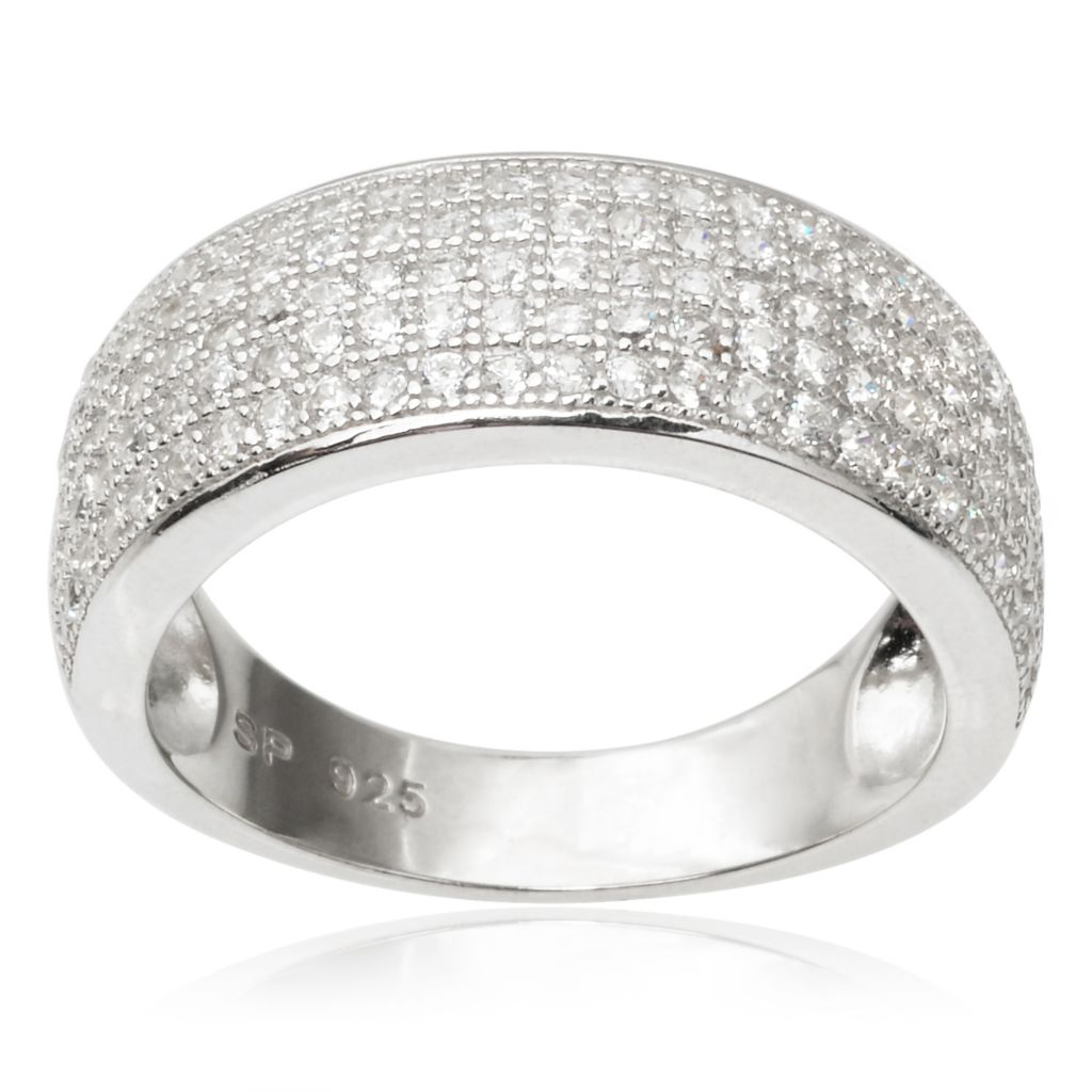 143-058 - Tressa Collection Sterling Silver Simulated Diamond Band Ring
